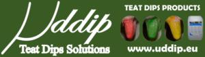 Uddip: Hygiène de traites, gamme complète de produits de trempage des trayons.